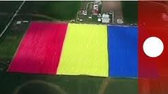 Rumänien zeigt größte Flagge der Welt