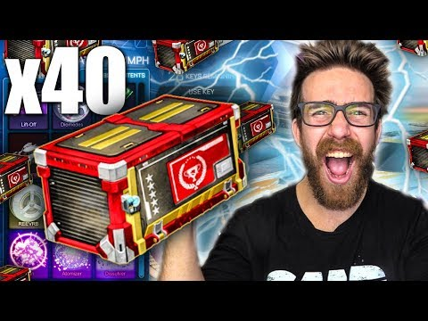 40 NEW TRIUMPH ROCKET LEAGUE CRATE OPENING!
