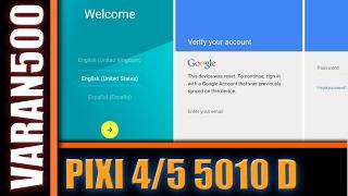 Alcatel OneTouch Pixi 4 (5) 5010D скидання гугл аккаунта FRP