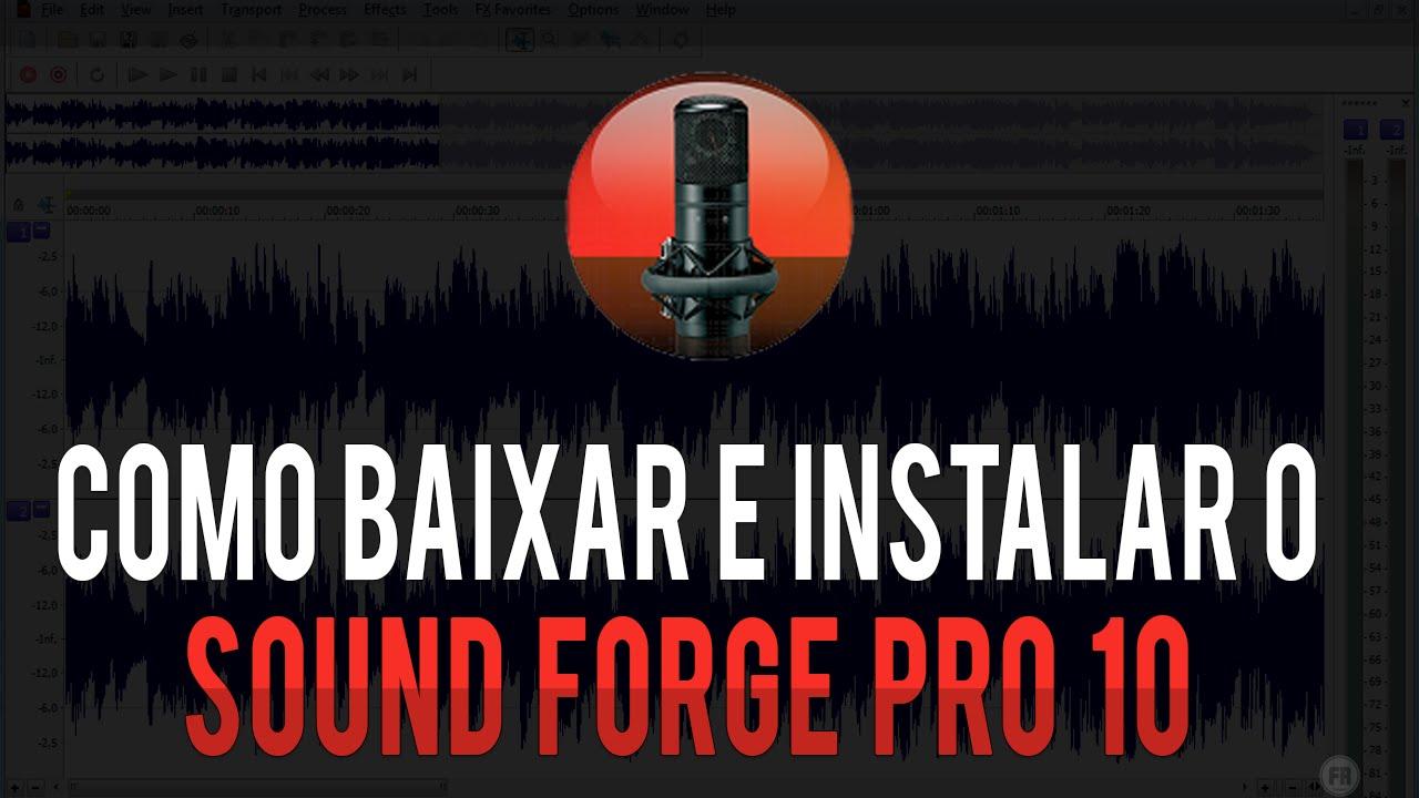 sound forge 10.0 completo gratis baixaki