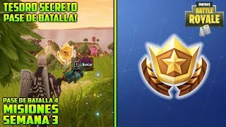 ⛏ HIDDEN TREASURE AND FREE LEVEL WEEK 3 BATTLE PASS FORTNITE BATTLE ROYALE