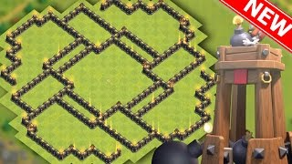 TOWN HALL 8 BEST HYBRID BASE w/BOMB TOWER (TH8 Hybrid/Farming) with Defense Replays! CoC 2016