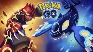 ¡KYOGRE vs GROUDON! BATALLA LEGENDARIA ÉPICA en Pokémon GO!!! [Keibron]