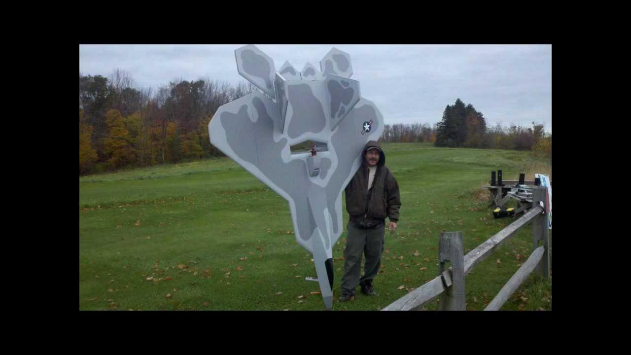 RC F22 Raptor Home made foamy 11-14-2011 - YouTube