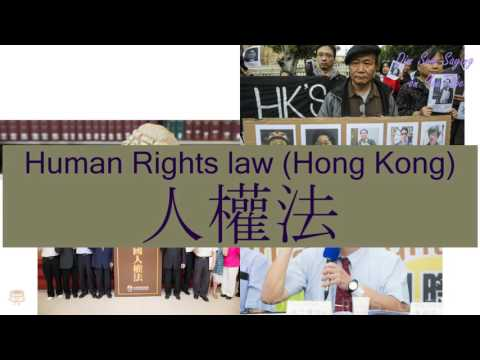 """HUMAN RIGHTS LAW (HONG KONG)"" in Cantonese (人權法) - Flashcard"