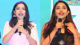 Varsha Bollamma and Malavika Satheesan Cute Speech at Choosi Choodangaane Movie Pre Release Event