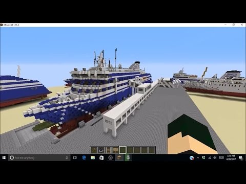 Minecraft Terminal One Sever Ship Showcase- Cruise Ferry