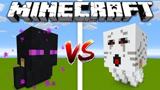 GHAST HOUSE vs ENDERMAN HOUSE / Minecraft battle