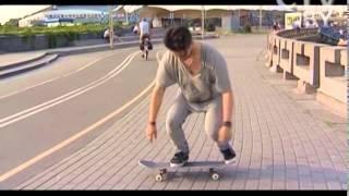CTV.BY: Уроки для начинающих скейтбордистов от скейтера Никиты Куксы. Трюк Pop Shove-it