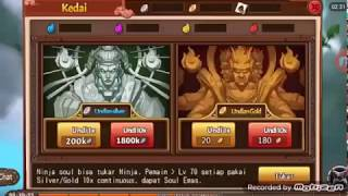 Spending 75283k Silver to gold soul SHINOBI HEROES