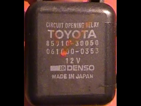 Jumping fuel pump relay and how it works; TCR11 Tarago Previa Estima