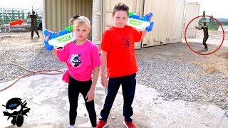 X Shot Team Up With Ninja Kidz!