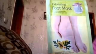 Мой отзыв на отшелушивающую маску носки для ног exfoliating