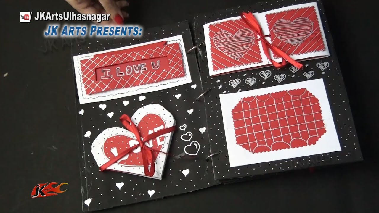 How to scrapbook at home - How To Make A Scrapbook 20 Greeting Cards Scrapbook Valentine S Day Gift Idea Jk Arts 879 Youtube