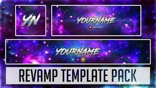 Galaxy Revamp Pack   Photoshop Template (YouTube Banner, Twitter Header & Avatar)