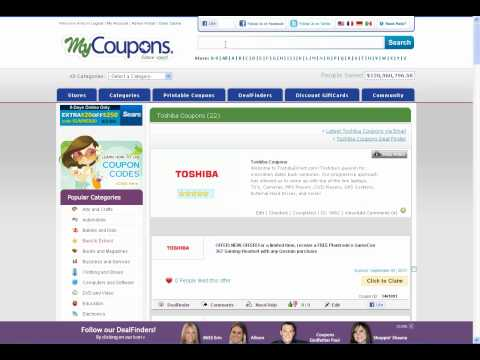 How To Use Toshiba Coupon Codes