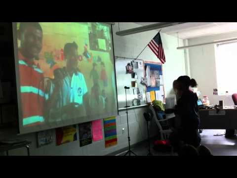 Lincoln Middle School students hold a webcast with Guatemalan students