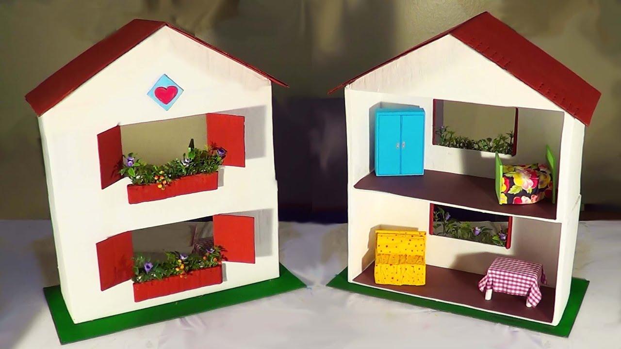 Diy casa de boneca dollhouse casa de mu ecas youtube - Casa de munecas ...