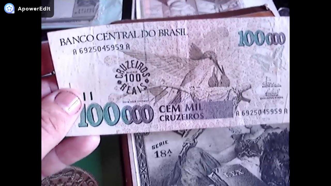 Cedula Dificil 100 Mil Cruzeiros Anos 90 Quanto Vale Veja Youtube
