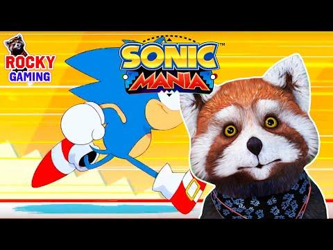 ПОДДАЁМСЯ НОСТАЛЬГИИ С СОНИКОМ! Рокки играет в Sonic Mania Plus! Сборник!