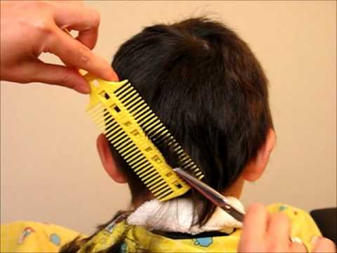 How To Cut Boy S Kids Hair Haircut Tutorial Combpal Scissor Clipper Over Comb Guide Video 5