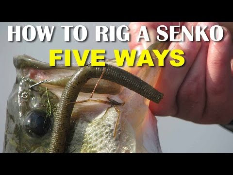 How To Rig A Senko 5 Ways | Bass Fishing Tips