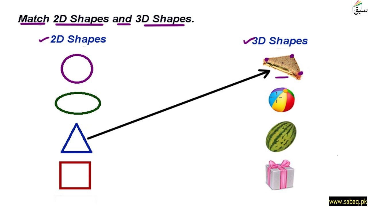 - Worksheet: 2D And 3D Shapes, Math Lecture Sabaq.pk - YouTube