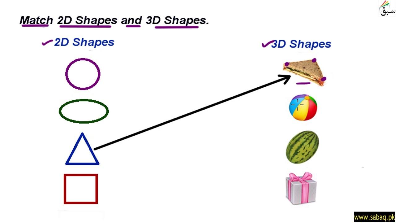 Worksheet: 2D and 3D shapes [ 720 x 1280 Pixel ]