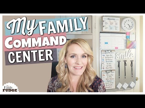 FAMILY COMMAND CENTER || Home Organization Ideas with DOLLAR TREE Items