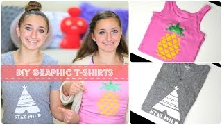 DIY Graphic T-Shirts | Brooklyn and Bailey Thumbnail