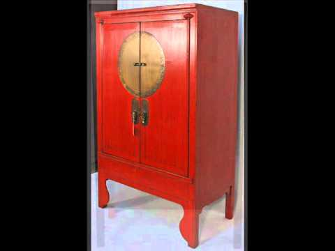Chinese Antique Wedding Cabinet with Brass Zodiac Medallion _bk0010y.wmv -  YouTube - Chinese Antique Wedding Cabinet With Brass Zodiac Medallion