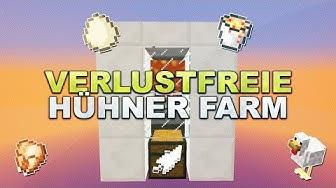Minecraft - Automatische & Verlustfreie Hühner Farm // Chicken Farm - Tutorial 1.15