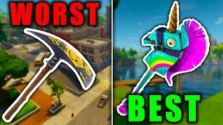 RANKING EVERY HARVESTING TOOL FROM WORST TO BEST! (Fortnite Battle Royale)