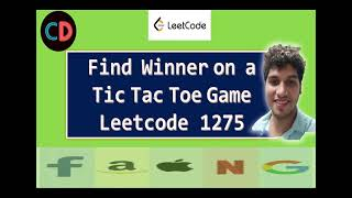 Find Winner on a Tİc Tac Toe Game   Leetcode 1275   Live coding session 🔥🔥🔥
