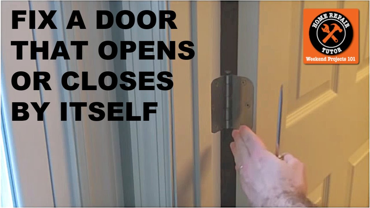 garage door opening on its ownFix a Door that Closes or Opens by Itself  by Home Repair Tutor