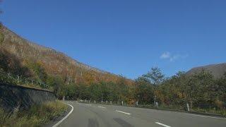北海道鹿追町 道道85号然別湖へ 車載動画 2014/10/07