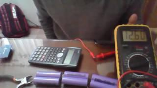 Obteniendo celdas 18650 de una batería de laptop y recargandolas en serie