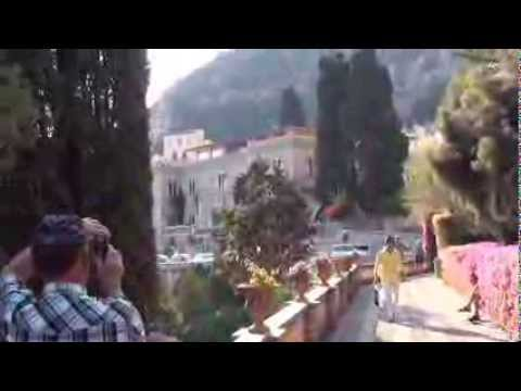 Город Таормина, о. Сицилия. (Путешествие по Италии 2013)