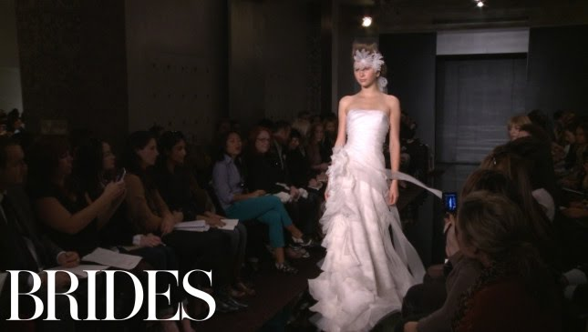 c0d5b7de7dbc Reem Acra Fall 2012 Bridal Collection - YouTube