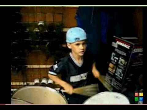 Rare Exclusive- Justin Bieber At 9 Years Old On Drums
