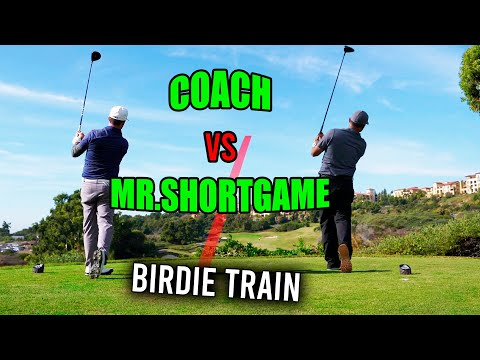 COACH HOPS ON THE BIRDIE TRAIN AT PELICAN HILL!