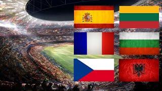 Футбол Прямая трансляция Франция Болгария Испания Литва Чехия Албания