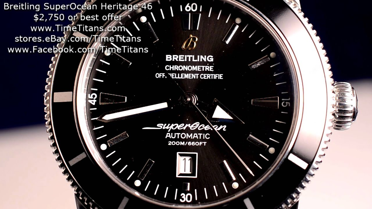 Replica breitling superocean heritage chrono aaa quality men watch.