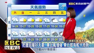 氣象時間 1090222 早安氣象 東森新聞