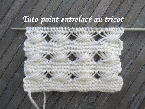 Tuto Point Torsade Interlac Interlacing Stitch Knitting Punto Torsadas Entrelazado Dos Agujas