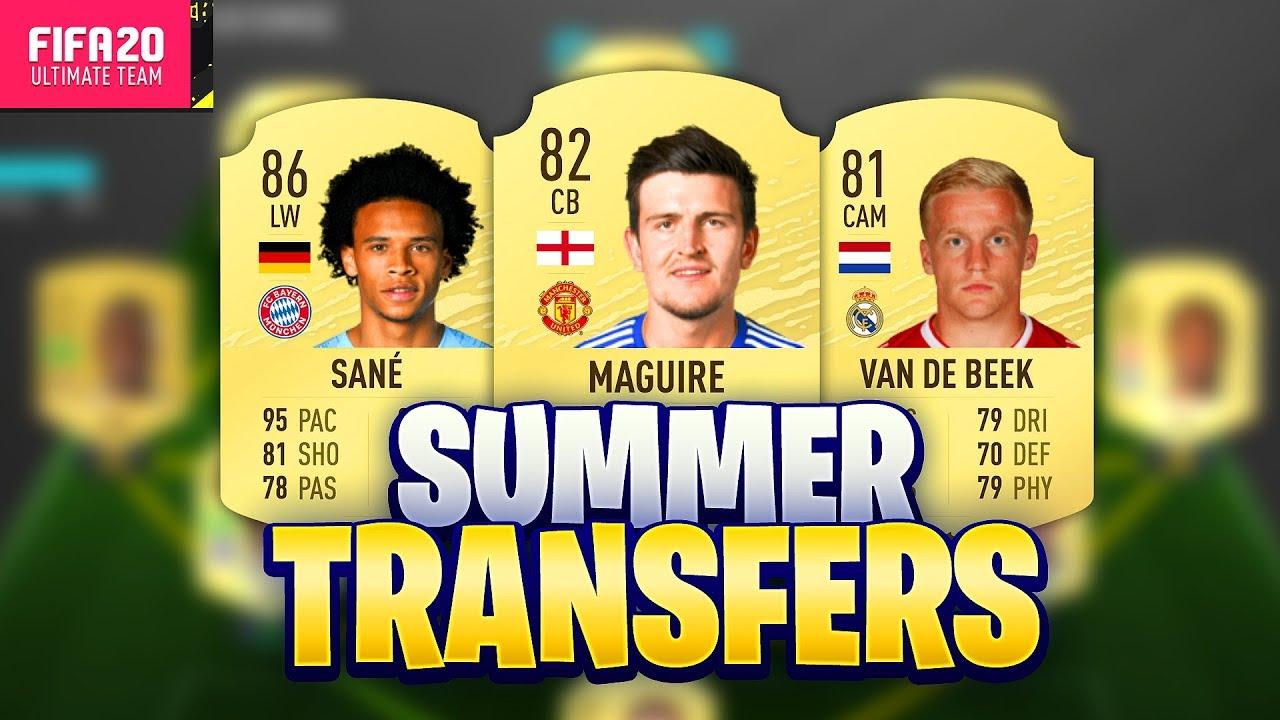 Fifa 20 Summer Transfers Confirmed Deals Rumours W Maguire Sane Van De Beek More Youtube