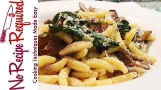 Pasta (cavatelli) With Mushrooms And Duck - Noreciperequired.com