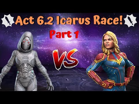 Act 6.2 Icarus Race! Ghost vs Cap Marvel! Insane Damage! - Marvel Contest of Champions