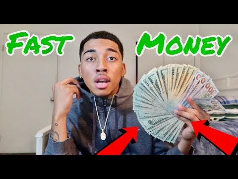 HOW TO MAKE FAST MONEY!!!💸 *2018-19*