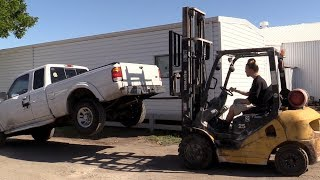 Lifting Cars with a Forklift!